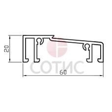 Алюминиевый порог холодный 60 мм (6 м)