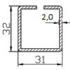 Профиль армирующий 201 (2,00); 31х32; О; 105-штрипс; 6,00 м.п.; пачка 600 м.п.