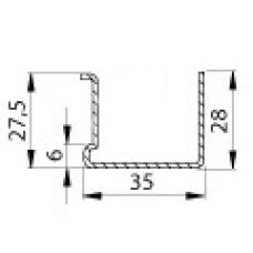 Профиль армирующий 506 (1,45); 35х28; П; 85-штрипс; 6,00 м.п.; пачка 1200 м.п.