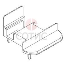 Заглушка для штульпа ECO и TERMO (бел) комплект (левая/правая), коробка 100 пар