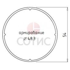 Труба специальная 54*75 белый (6,5)
