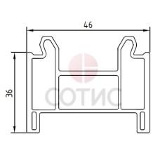 Профиль подставочный KBE 342 30 мм, 70 мм, 6,5 м.п.