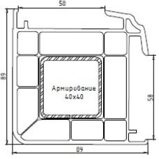 Профиль углового соед. 90 градусов KBE 155, 58 мм, белый, 6,5 м.п.