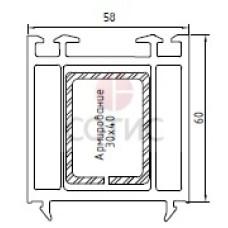 Профиль расширителя KBE 546, 58х60 мм, 6,5 м.п.
