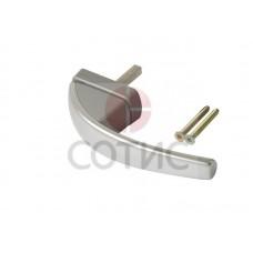 641117 Ручка Roto Swing  Стандарт 37 мм штифт, СЕРЕБРО  шт (2 винта  5х45)