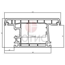 Профиль Створочный Т(дверной) Reachmont Eco (6,5)
