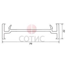 Профиль соединительный GOODWIN  70 мм 20 мм, 6,5 м.п.