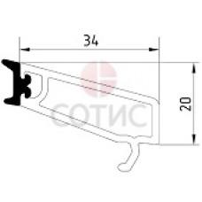 Штапик 34 мм универсальный, для стекла 4-6 для систем 58/60/70мм